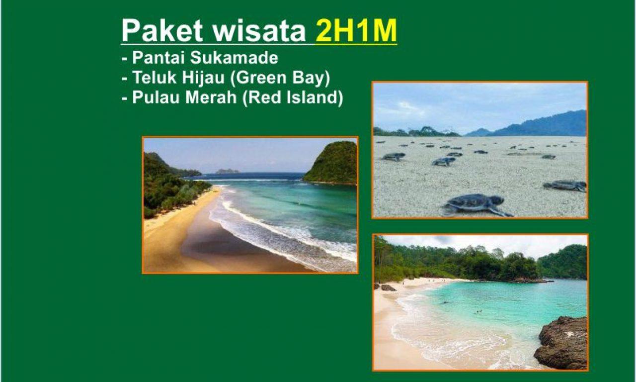 Paket wisata pantai Sukamade -Teluk Hijau – Pulau Merah 2H1M