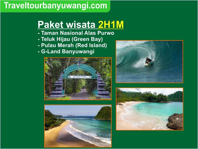 Paket wisata 2H1M Teluk Hijau – Pulau Merah – Alas Purwo – G-land Banyuwangi