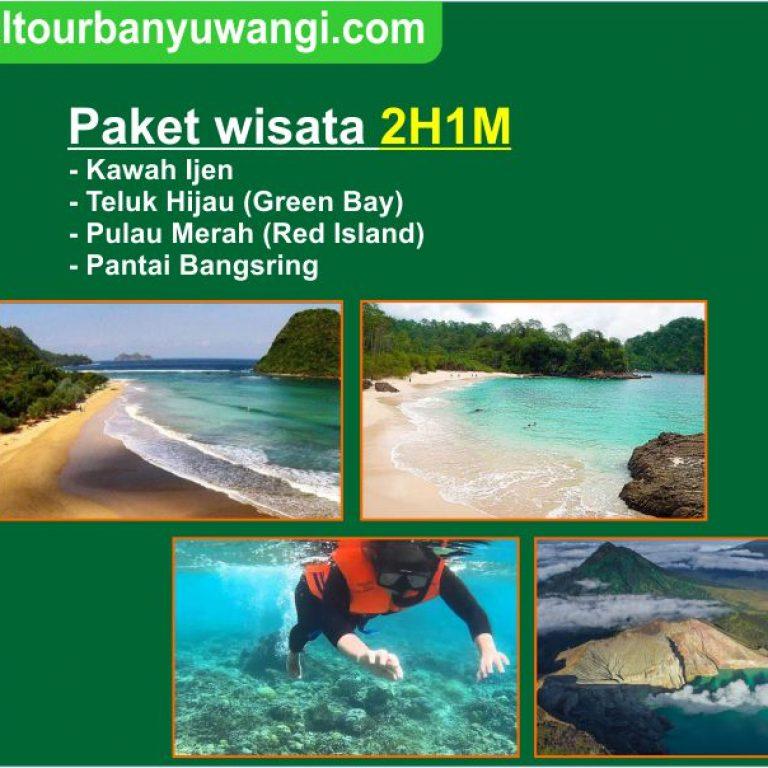 Paket wisata 2 hari 1 malam (Teluk Hijau,Pulau Merah, Kawah Ijen, Bangsring)